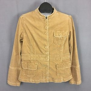 Anthropologie Sitwell Fitted Corduroy Jacket 14